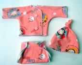Nurtured Baby- 14 inch doll layette set- Pink Parisian sisters