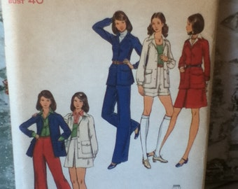 Butterick Vintage Jacket, Skirt, Pants & Shorts Pattern 6957 Size 18 Bust 40""