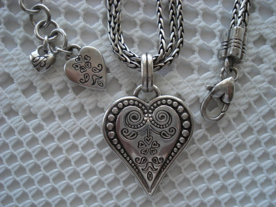 Beautiful Brighton Heart Pendant Triple By Onceinabluemoonfind