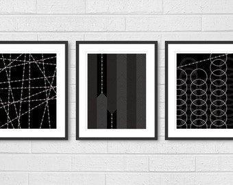 Dining Room Art Living Room Prints Set of 3 Modern Living