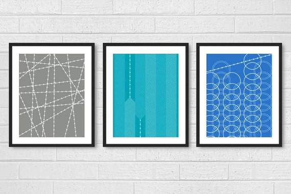 Modern Living Room Wall Art Prints Posters Set Of 3 Dining
