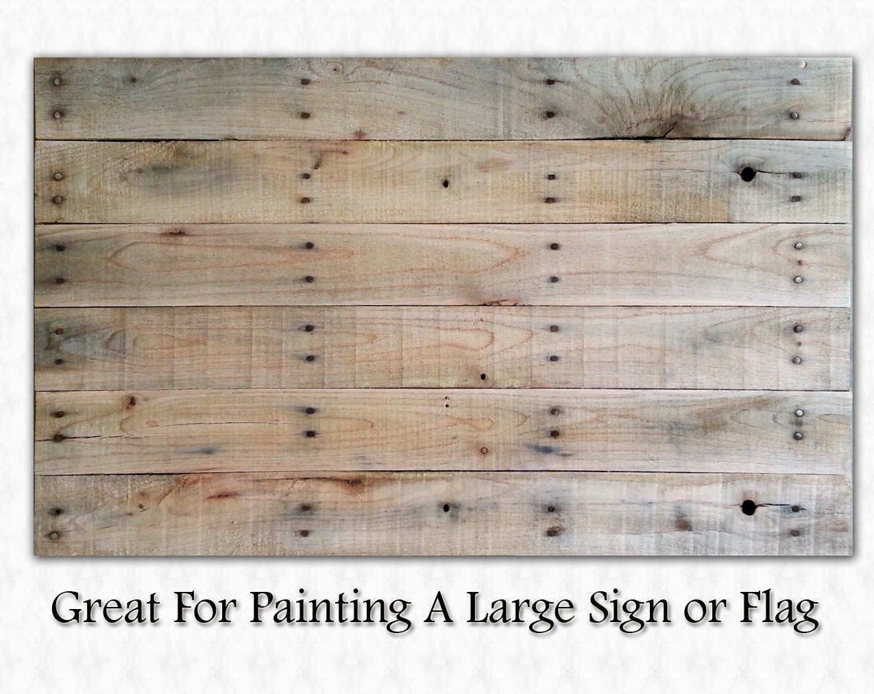 Blank Pallet Wood Canvas for Sign or Flag Painting by ...