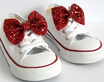 Girl Glitter Bow Shoe Clip