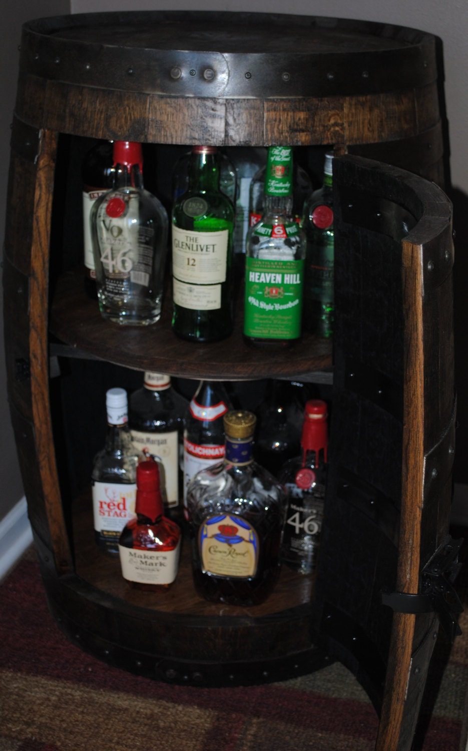 Listing For Eric Wolf Whiskey Barrel Liquor Cabinet With
