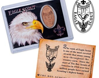 Boy Scouts of America - Eagle Scout - Elongated Coin Trading Card