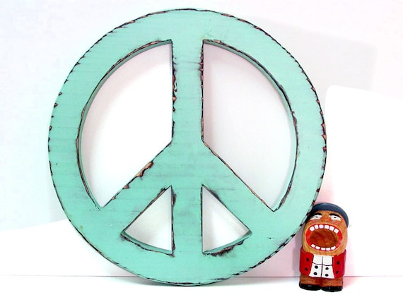 Peace Sign Wall Decor Rustic Fun Sign Pine Wood Sign Wall