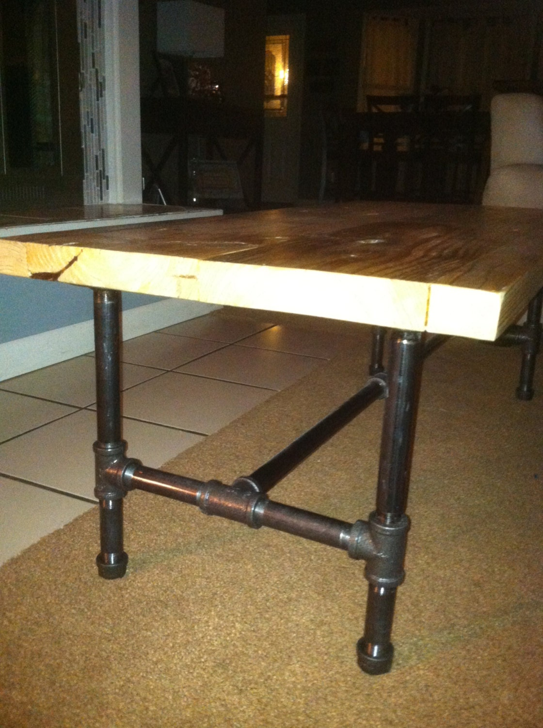 Industrial Pipe Leg Coffee Table By Lapalletcreations On Etsy