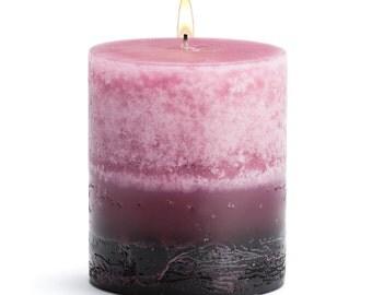 """Stone Candles 3"""" x 3"""" Fresh Pillar Candle, Tuberose"""