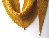 Sunny yellow triangle Knitted Scarf / Shawl Winter Fashion