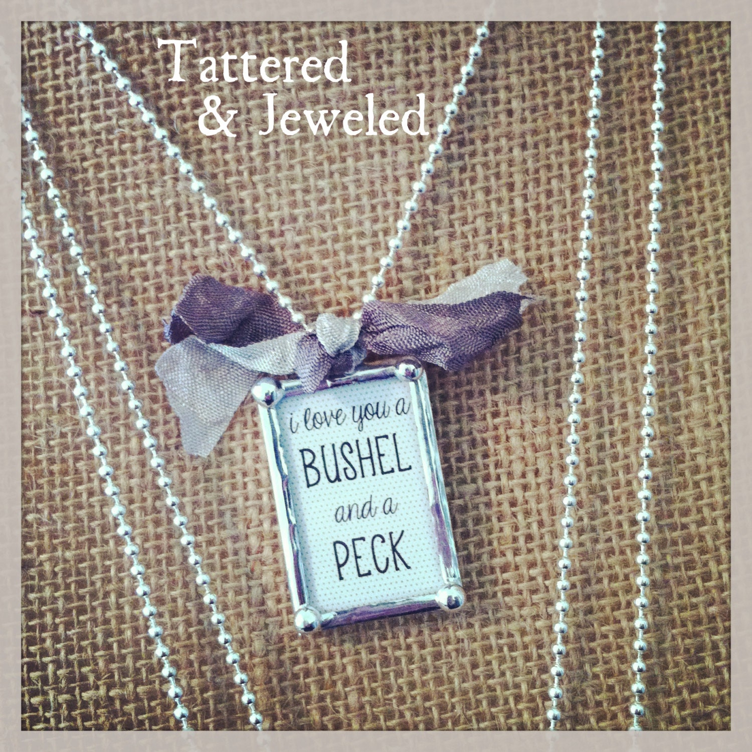 I Love You A Bushel And A Peck Necklace: Unavailable Listing On Etsy