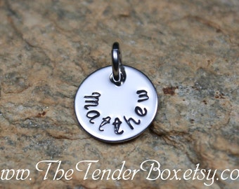 Add on 1/2 inch hand stamped pendant
