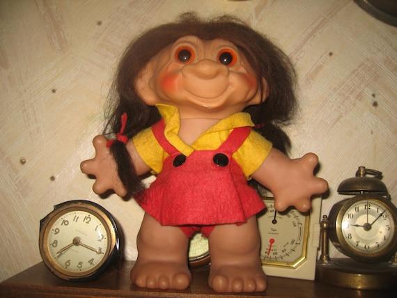 Rare Vintage 1961 Large Size Girl Thomas Dam Troll Doll Htf