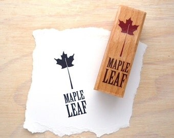 Canadian Themed Rubber Stamp Canada Maple Leaf Slogan Motif