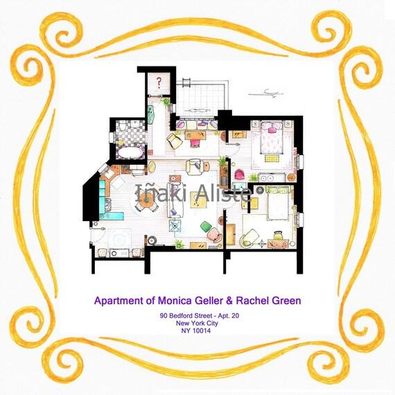 Apartment Of Monica Rachel From Friends Inside A Peephole