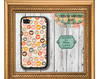 All My Hearts iPhone Case, Valentines iPhone Case, Plastic iPhone Case, iPhone 4, 4s, iPhone 5, 5s, 5c, iPhone 6, 6s, 6 Plus, Phone Case