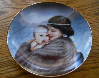 Moonlight by Perillo  the mothers love  art affects plate numbered 26/3A