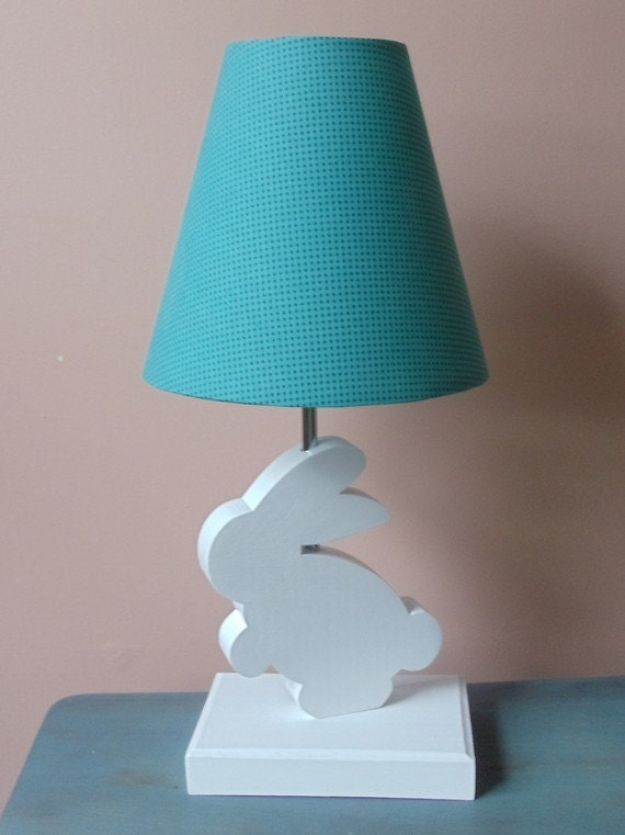 Bunny Lamp Base Handmade Wooden Animal Table Lamp Base