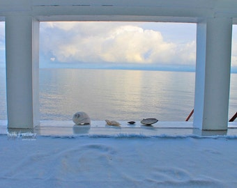 "Fine Art Photo - Title: ""Blue"" - billi j miller photography - Ocean, view, seashells, blue, tranquil, sea"