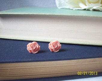 Rose post earrings,Rose earrings,Post earrings,Shabby chic jewelry,Unique gift