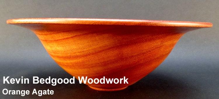 Bowl Wood Orange Agate Turned Wood By Kevinbedgoodwoodwork