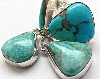 Candelaria and Cripple Creek  Turquoise Earrings