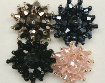1 pc of cute Rhinestone beaded applique for Headband Hair clip Hair Accessories Headpiece 36 Annielov