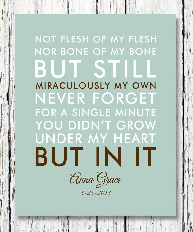 not flesh of my flesh not bone of my bone quote adoption creed