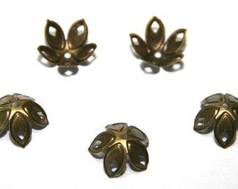 15 Piece bronze 18mm bead caps PK32