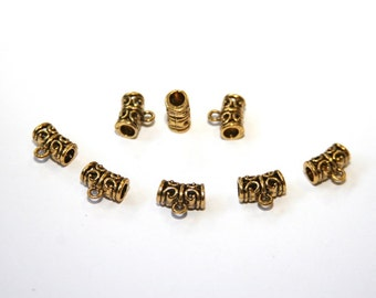 10 Pcs. Metal beads / connector / spacer color: gold  A105