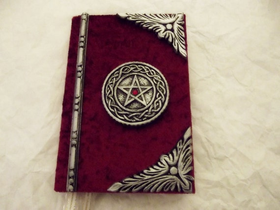 Old Book Covers For Sale : Hand crafted book of shadows spell wiccan journal