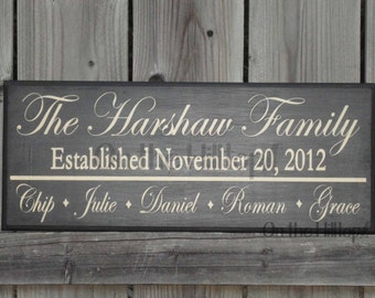 Personalized Family Name Sign- Last Name Sign, Established Date, Family Established Sign