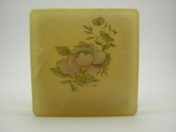Alabaster Vintage Lefton Trinket Box Made In Italy