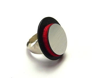 Si Atelier Contemporary Jewelry, Circle Handmade Ring, statement ring, minimal ring, Design, Sophisticated, Minimal accessories gift for her
