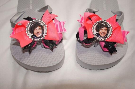One Direction Bottlecap Flip Flops