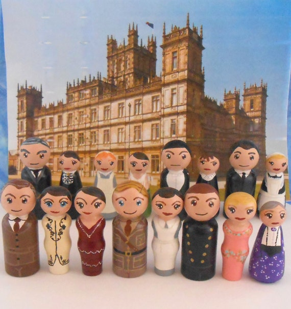 In Stock:  Downton Abbey Peg People