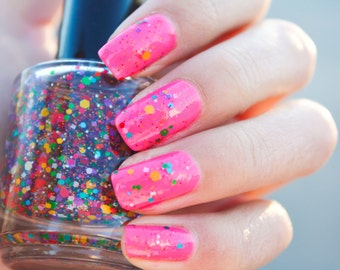 Glitter Nail Polish  Lacquer Custom-Blended