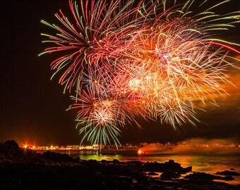 York Beach Short Sands Summer Fireworks 16x24 Fine Art Print