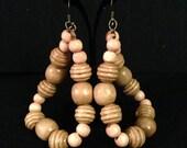 Light natural hoop earrings