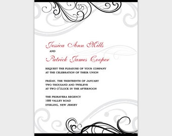 Swirls Wedding Invitation