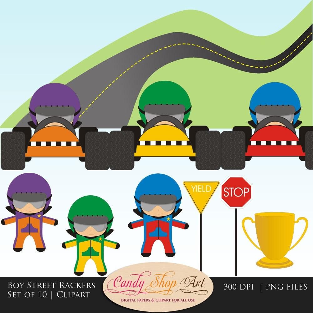 Racing Road Clipart Race Driver Clipart
