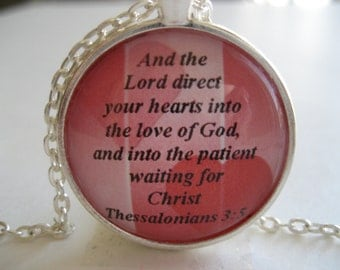 Love Scripture Necklace Bible Verse Thessalonians 3:5