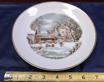 On Sale Currier and Ives The Farmer's Home in Winter Plate