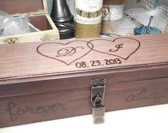 Wedding Gift Letter Box : ... box - Anniversary gift - Shower gift - Love Letter Wine Box - Memory