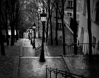 Paris photography, black and white photography, stairs,Parisian Fine Art, Affordable home decor
