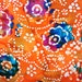 New, Cotton Quilting Fabric BY the YARD, Lovely Orange Floral BATIK from India, Caledonia Gardens, Fabulous Batik Sewing Fabric, Crafts