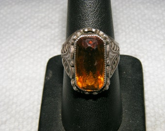Price reduced: Sterling silver & golden topaz ring size 7 3/4