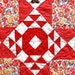 """Spectacular  Vintage CROWN of THORNS Quilt  1960's-70's Fabrics  82"""" x 83"""""""