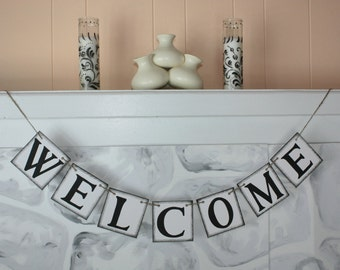 WELCOME Wedding Banner - Party Decoration - Photo Prop