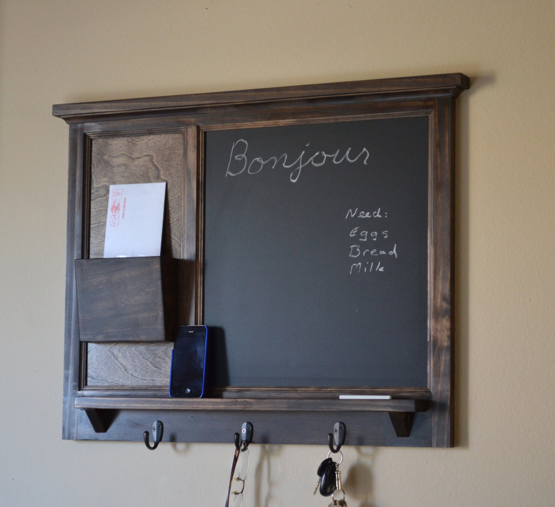 Chalkboard Mail Organizer Letter Holder Key By