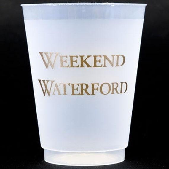 "30 ""Weekend Waterford""  or ""Country Crystal"" 16 oz Shatterproof (Frosted) Cups"
